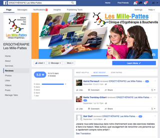 Maintenant sur Facebook!